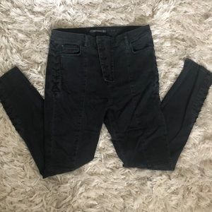 Zara Trafaluc Black Laced Denim